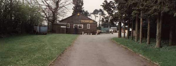 Mower Shop View from gate in 1989