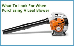 What Look For Buying Leaf Blower