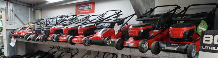 Mountfield Lawnmower Display