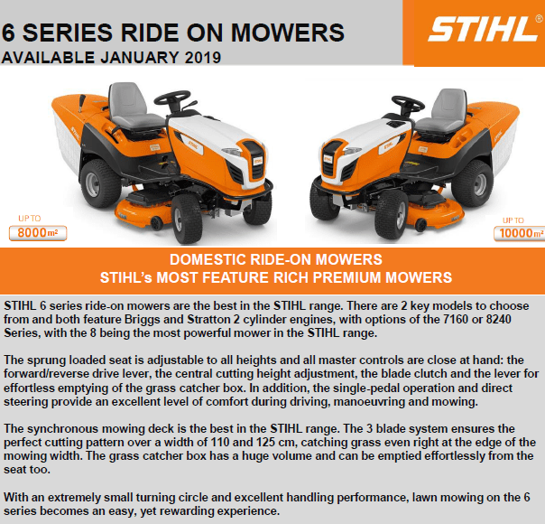 The Mower Shop Are Stockists Of Stihl's New 2019 Range Of